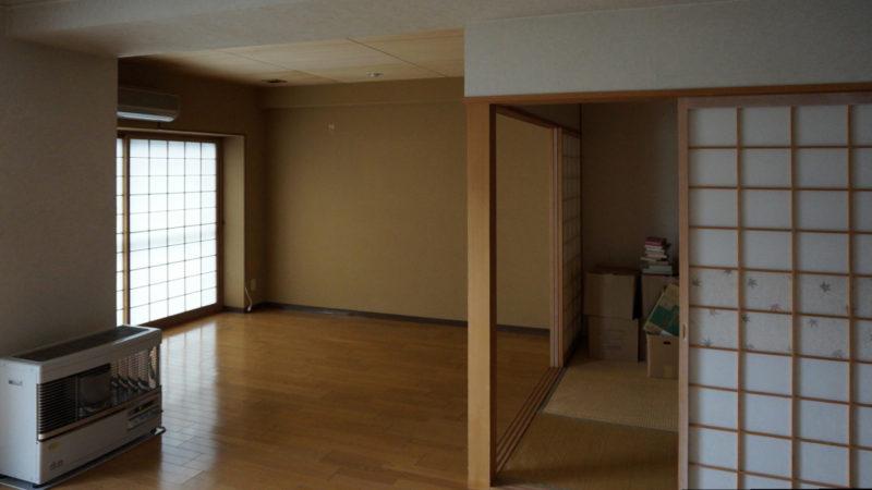 [before] 元々和室だったところをリビングに変更