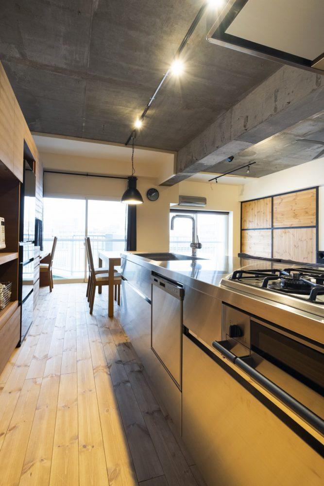 [after] オールステンレスのキッチン